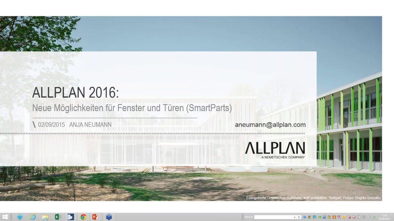 Allplan SmartParts – Neue Möglichkeiten für Fenster und Türen - YouTube