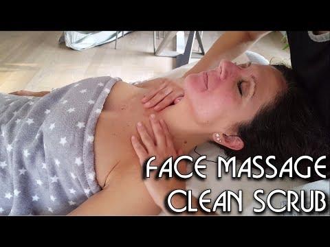 💆 Face Massage Clean and Scrub - Tapping Rubbing Stroking - BINAURAL recording - ASMR no Talking