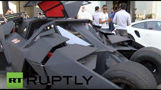 UAE: Crowd wowed as Batmobile owner reveals himself with the vehicle