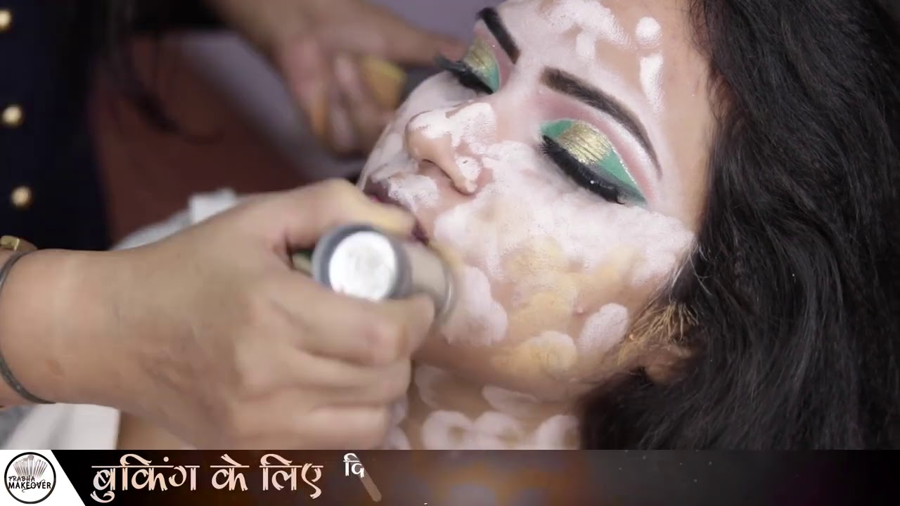 Golden Green Eye Makeup | KRYLON MAKEUP | Prabha Makeover