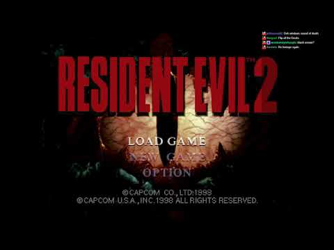 *strobe Warning* Streaming PS1 Version Resident Evil 2 BLIND! Claire First! Hello?