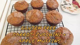 Gluten Free Carrot, Zucchini & Apple Muffins