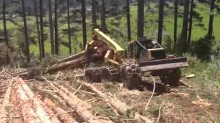 Tigercat 635D, Logging, Northland, New Zealand