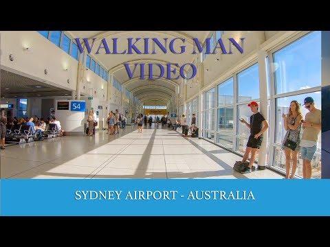 4K Sydney Airport Walk, Domestic Terminal -  QANTAS, Jetstar, REX - Australia Tourism