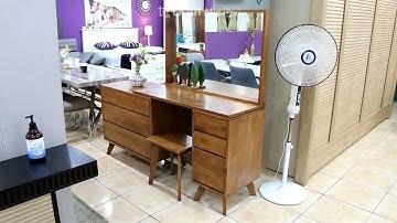 일산가구단지 드라마가구 엘가 원목화장대, 거울, 의자세트