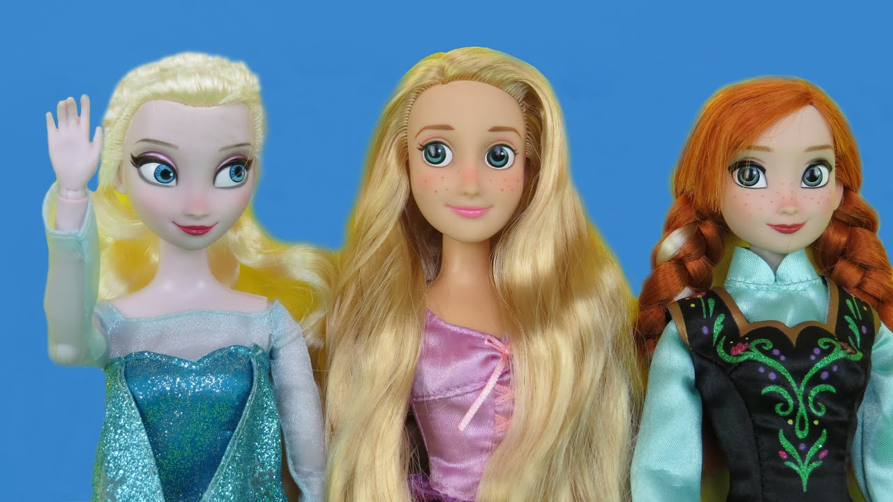 ELSA & ANNA climb a tree ! A MAGIC bunny is discovered !Rapunzel ,  Kristoff, Eugene are there too
