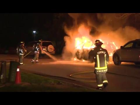 Antrim Cres Car Fire Scarborough