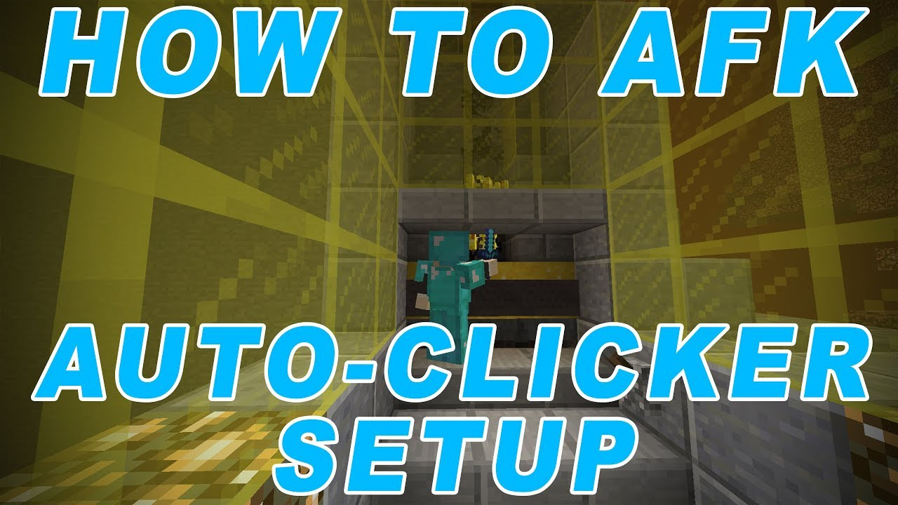 How to AFK in Minecraft (AUTO-CLICKER SETUP)
