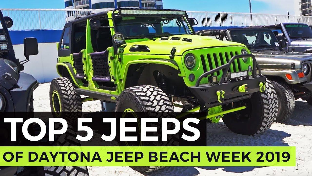 Top 5 Jeeps Of Daytona Jeep Beach 2019 Youtube