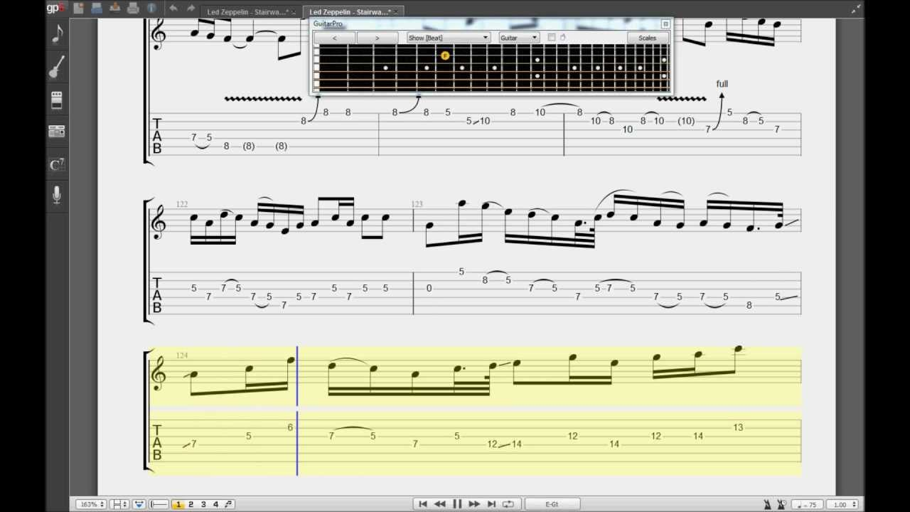 Learn How To Play Stairway To Heaven Electric Guitar Solo Riff Tabs
