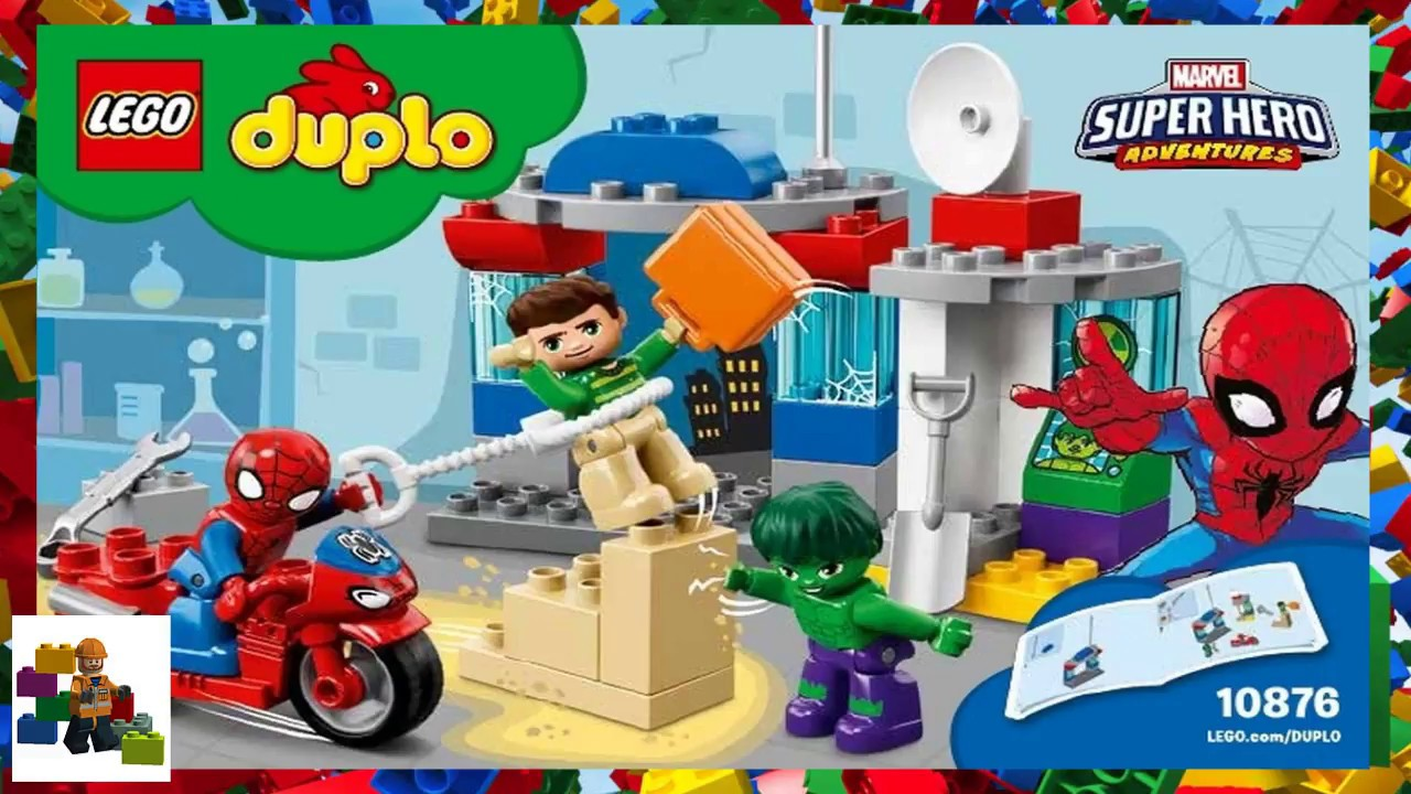 Lego Instructions Duplo Spider Man 10876 Spider Man Hulk