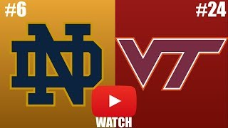 Notre Dame vs Virginia Tech Week 6 Full Game Highlights (HD)