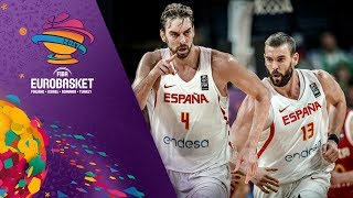 Pau and Marc Gasol score a combined 51pts. against Russia!
