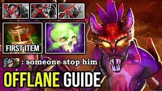 7.23F OFFLANE GUIDE Witch Doctor Infinite Bouncing Stun First Item Spirit Vessel + Maledict DotA 2