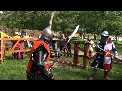 Battle of the Nations 2015. Polearm duels. USA vs Netherlands.