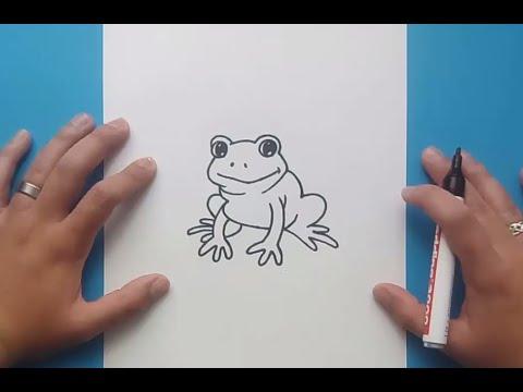 Como dibujar una rana paso a paso 6  How to draw a frog 6  YouTube
