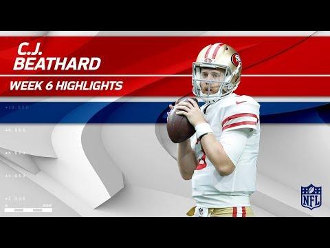 C.J. Beathard's Gritty Effort w/ 245 Yards & 1 TD!   49ers vs. Redskins   Wk 6 Player Highlights