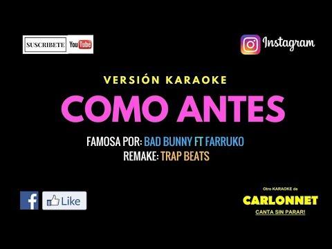 Como antes - Yandel feat Wisin (Karaoke)