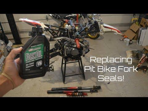 replacing pit bike fork seals, fork oil & rear shock! | ssr125tr rebuild  ep 3 - youtube