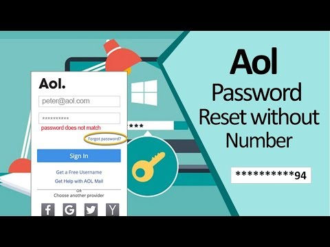 How To Reset/Recover AOL Password Without Phone Number | How To Bypass AOL Email Password