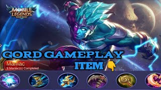 Gord Build and Gameplay - Christmas Skin Ranked Match Mobile Legends