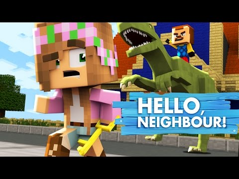 Minecraft BIG BAD BABY - THE BABY NEIGHBOUR STEALS ALL THE JURASSIC PARK DINOSAURS!!!
