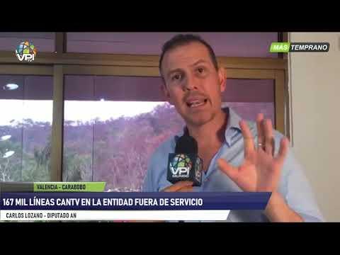 Venezuela - Dip. Carlos Lozano Denunció Que 167.000 Líneas De CANTV No Funcionan - VPItv