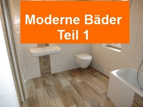 moderne b der teil1 feinsteinzeug holzoptik im bad youtube. Black Bedroom Furniture Sets. Home Design Ideas