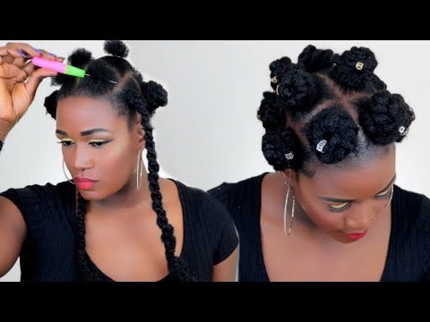 SHHH!!! THE EASIEST CROCHET BANTU KNOTS ON NATURAL HAIR IN 30 MINUTES