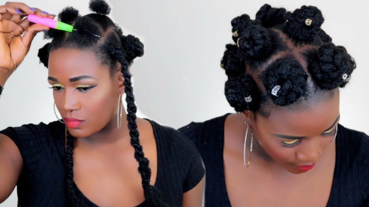 Shhh The Easiest Crochet Bantu Knots On Natural Hair In