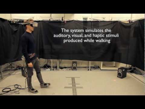 Multimodal interaction to simulate natural interactive walking