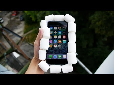 Can Marshmallows Protect iPhone 7 Plus from 100 FT Drop Test?