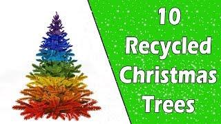 10 Recycled Christmas Trees - Ecobrisa DIY