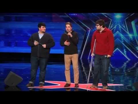 Triple Threat Beautifully Nerdy Boy Band Sing Classic  MKTO   Americas Got Talent 2015
