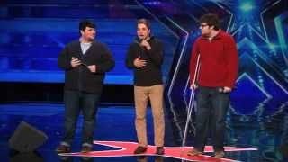Repeat youtube video Triple Threat Beautifully Nerdy Boy Band Sing Classic by MKTO   Americas Got Talent 2015