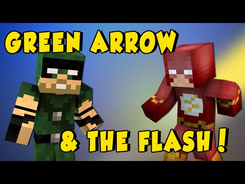 Minecraft Mods - THE FLASH & GREEN ARROW MOD! (Play Minecraft as a Superhero!) - Mod Showcase