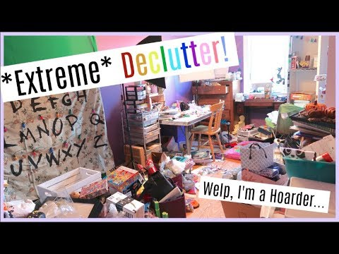 Decluttering my Craft/YouTube Room- Part 1