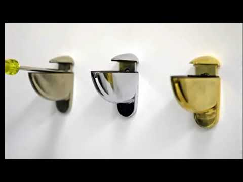Glass Shelf Brackets - Bathroom Glass Shelf Brackets | Modern Wooden & Metal Best Pics