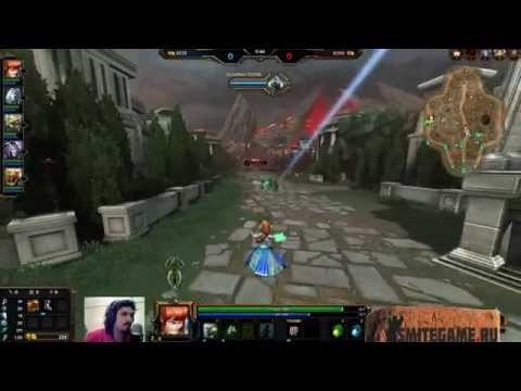 видео: smite с Некросом. Быстрая игра на scylla.