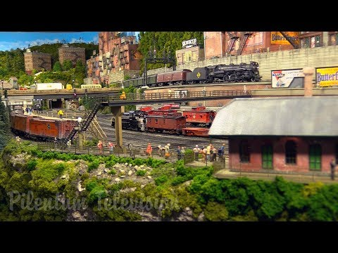 One of the finest and most famous model railroad layouts in the United States in HO scale