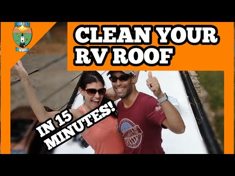 CLEAN YOUR RV ROOF FAST AND EASY IN 15 MINUTES!