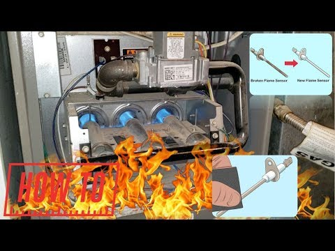 How To Clean A Furnace Flame Sensor | Heat Won't Turn On!