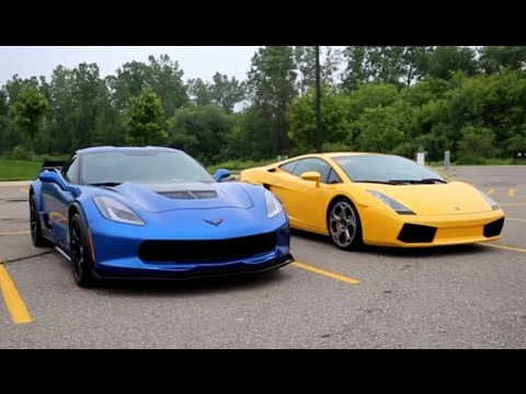 C7 Corvette Z06 vs Lamborghini Gallardo Epic Exhaust Battle and POV Acceleration!