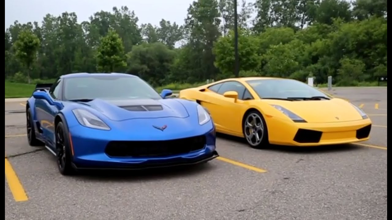 C7 Corvette Z06 Vs Lamborghini Gallardo Epic Exhaust Battle And Pov Acceleration You