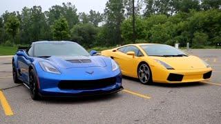 C7 Corvette Z06 vs Lamborghini Gallardo Epic Exhaust Battle and POV Acceleration!