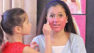 تحدي المكياج بين مايا و لين الصعيدي Makeup Challenge Maya Vs Leen AlSaidie شوفو شو عملت مايا 😂😂😂