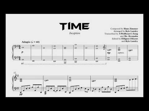 Inception - Time (Kyle Landry's Arrangement) Transcription + Download!