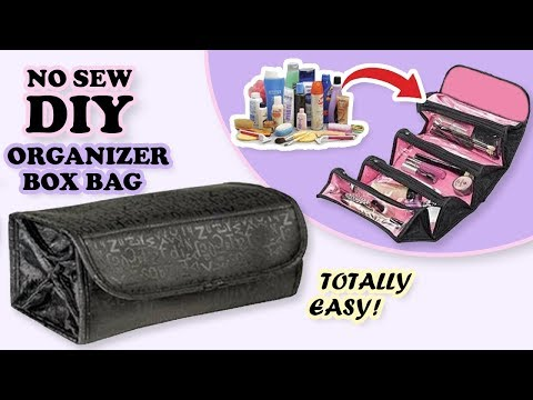 FANTASTIC DIY COSMETICS BAG // No Sew Transparent Makeup Bag Keeper From Scratch