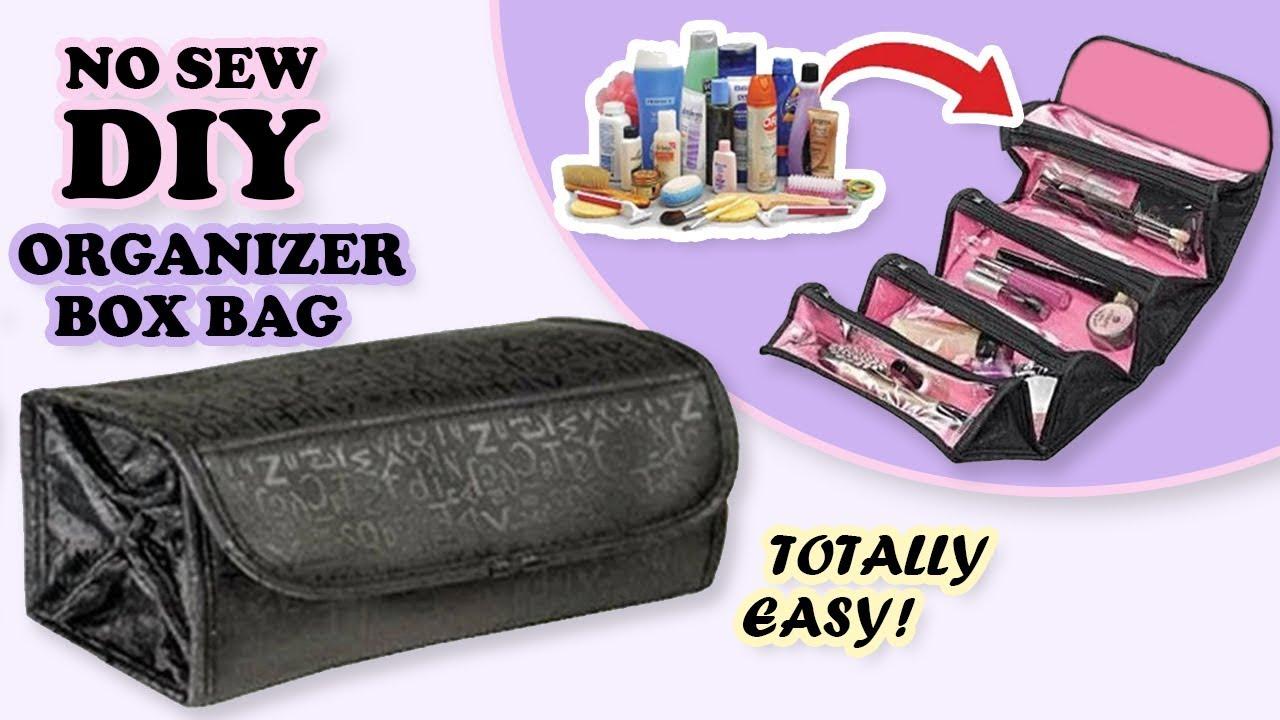 Fantastic Diy Cosmetics Bag No Sew Transparent Makeup Bag Keeper From Scratch