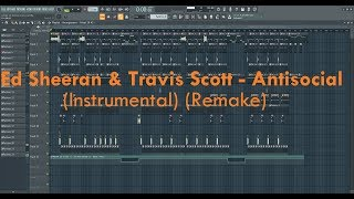 Ed Sheeran & Travis Scott - Antisocial (Instrumental) (Zersky Remake)